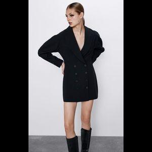 ZARA Full Sleeve Tuxedo Dress